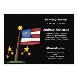 In Loving Memory 13 Cm X 18 Cm Invitation Card