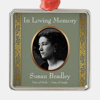 In Loving Memory 2 Custom Photo Memorial Ornament