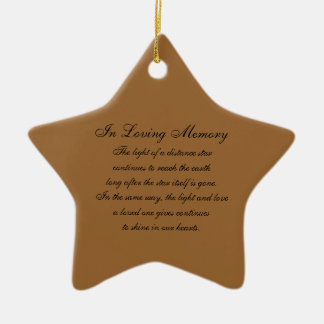 In Loving Memory America US Flags and Fireworks Bu Christmas Ornament