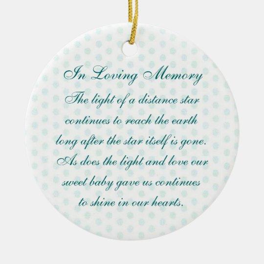 In Loving Memory Baby Boy's Death Memorial Christmas