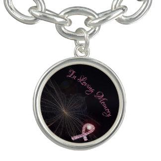 In Loving Memory Brest Cancer Charm Bracelet