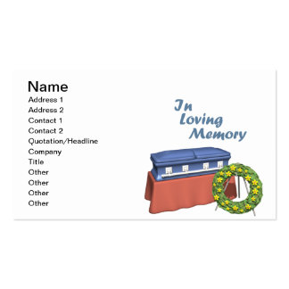 In Loving Memory Business Card Templates