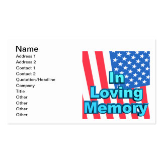 In Loving Memory Business Cards