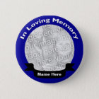 In Loving Memory Button / Blue
