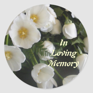 In Loving Memory Classic Round Sticker