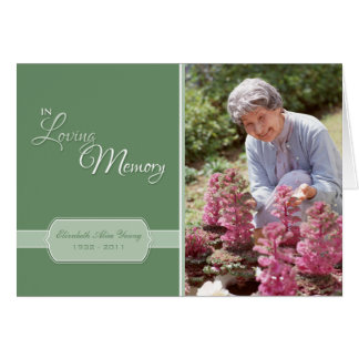 In Loving Memory Custom Photo Card