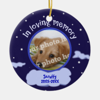In Loving Memory Custom Photo Pet Memorial Christmas Ornament