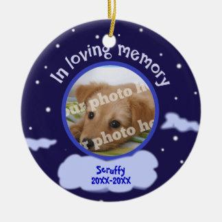 In Loving Memory Custom Photo Pet Memorial Round Ceramic Decoration