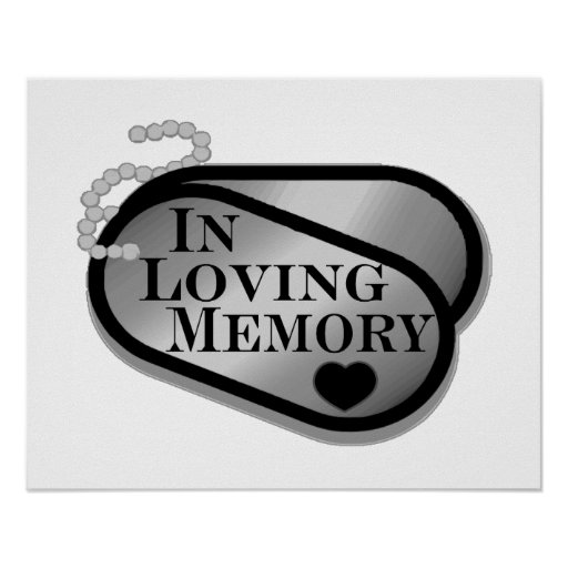 In Loving Memory Dog Tags Print