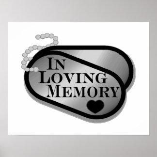 In Loving Memory Dog Tags Print