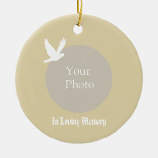 In Loving Memory Dove Memorial Christmas Ornament