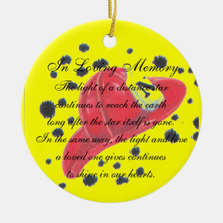 In Loving Memory Fireman Hat Ornament