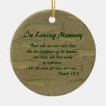In Loving Memory Fish Memorial Ornament