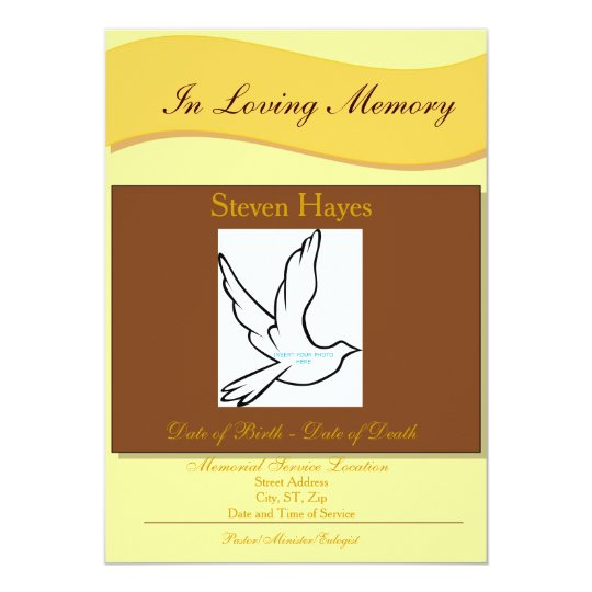 In Loving Memory Funeral Invitation/Program Card