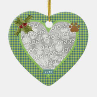 In Loving Memory Green Heart Pet Ornament