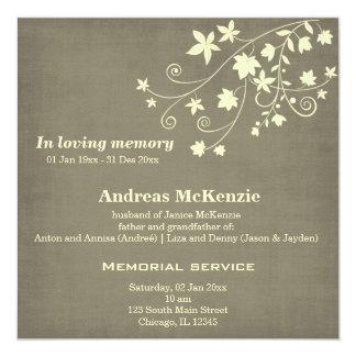 In Loving Memory Custom Invitations