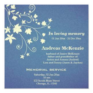 In Loving Memory Custom Invites