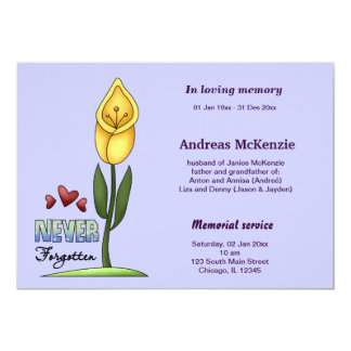 In Loving Memory Personalized Invite