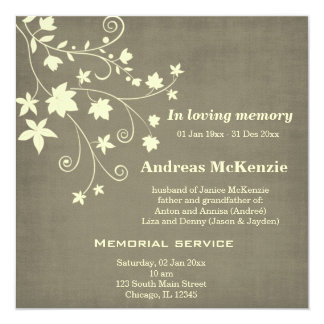 In Loving Memory Custom Invite