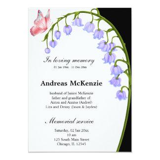 """In loving memory 5"""" x 7"""" invitation card"""