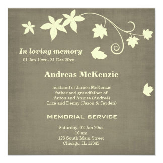 In loving Memory Personalized Announcements