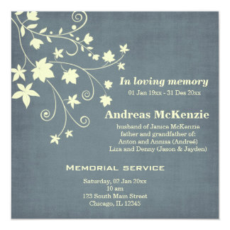 In Loving Memory Personalized Announcement