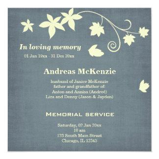 In Loving Memory Personalized Invitation