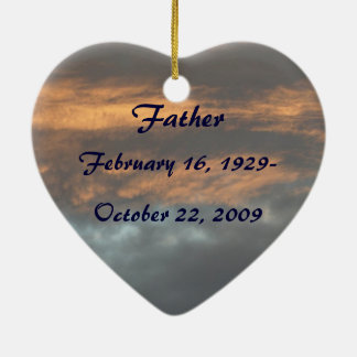 In Loving Memory Memorial Christmas Sky Ornament