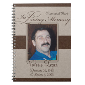 In Loving Memory Memorial / Guestbook Notebook