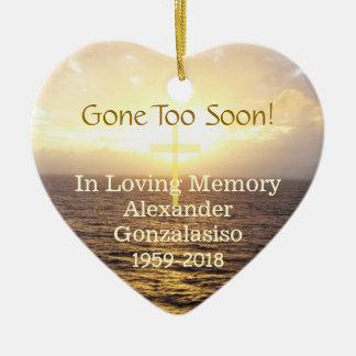 In Loving Memory Memorial-Holy Cross Christmas Ornament