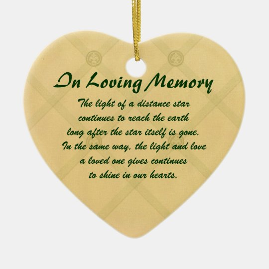 In Loving Memory Memorial Ornament