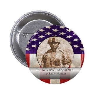 In Loving Memory Military Photo Custom Tribute 6 Cm Round Badge