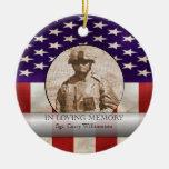 In Loving Memory Military Photo Personalised