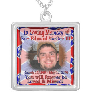 In Loving Memory of Edward McGee Rebel Necklace
