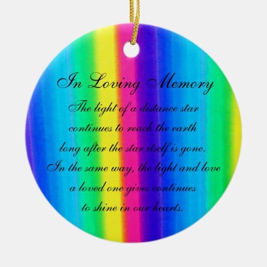 In Loving Memory Pastel Rainbow Death Memorial Christmas