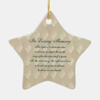In Loving Memory Pearls and Diamonds Death Memoria Ceramic Star Decoration