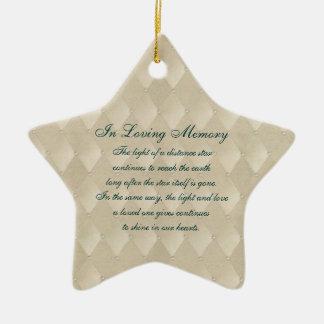 In Loving Memory Pearls and Diamonds Death Memoria Ceramic Star Decoration