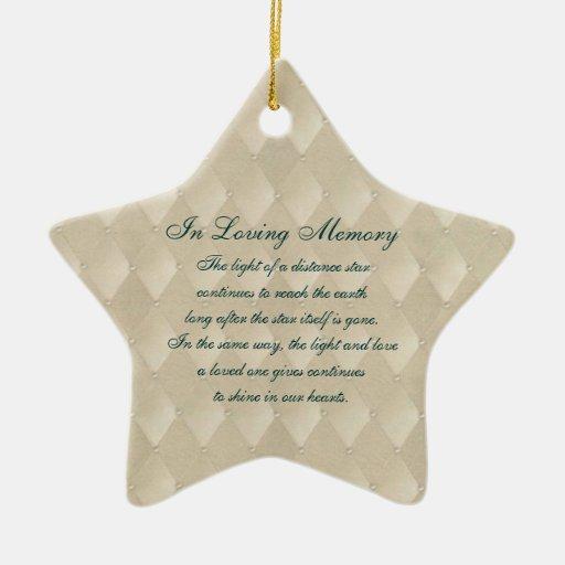In Loving Memory Pearls and Diamonds Death Memoria Christmas Ornaments