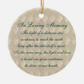 In Loving Memory Pearls and Diamonds Memorial Christmas Ornament