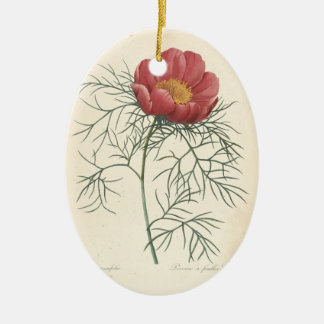In Loving Memory Peony Custom Photo Memorial 1 Christmas Ornament