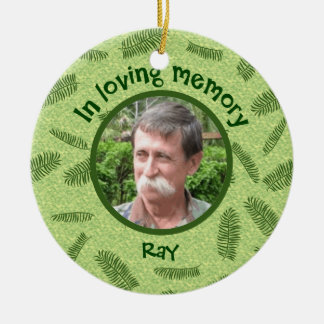 In Loving Memory Personalized Photo Palms Memorial Christmas Ornament