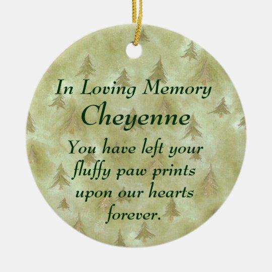 In Loving Memory Pet Memorial Ornament Zazzlecouk