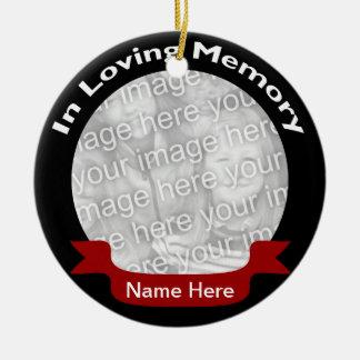 In Loving Memory Photo Ornament - Black