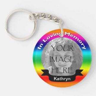 In Loving Memory Rainbow Photo Key Chain