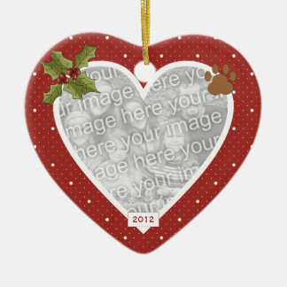In Loving Memory Red Heart Cat Ornament