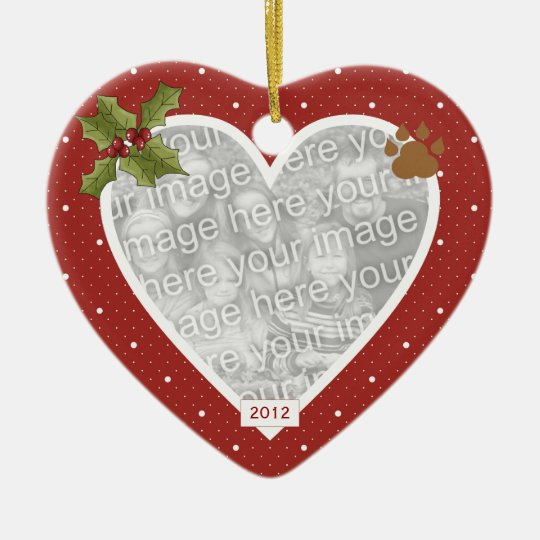 In Loving Memory Red Heart Dog Ornament