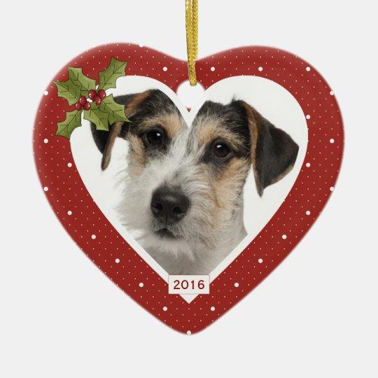 In Loving Memory Red Heart Ornament
