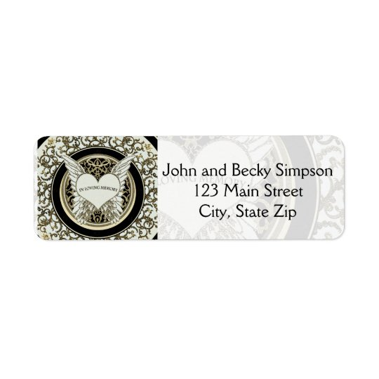 In Loving Memory Return Address Label