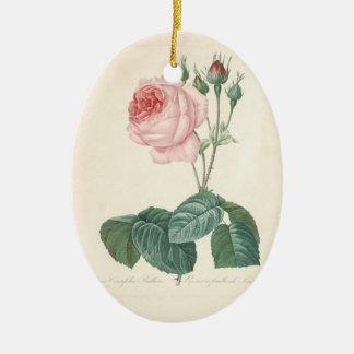 In Loving Memory Rose 1 Custom Photo Memorial Christmas Ornament