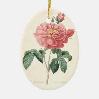 In Loving Memory Rose 2 Custom Photo Memorial Christmas Ornament